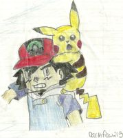 Ash and Pikachu by Darkflow215
