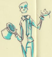 Sleton the Skeleton by AmeliaDDraws