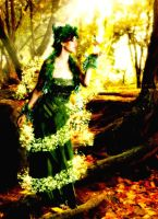 forest magical scene by. nikki by serenity-1308
