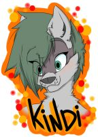 Kindi - Con badge by THEsquiddybum
