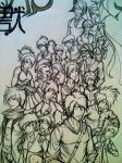 Close up of Characters ~Inked~ on Poster by Yavanni