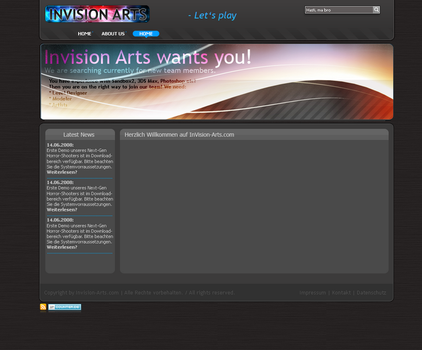 Webdesign: Invision-Arts v2 by shadow288