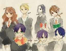 Harry potter scribble by allwellll