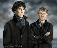 Sherlock and John by MelodicMadness