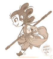 May the Fourth: Rey by Pandas-R-Us
