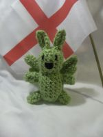 Tiny Flying Mint Bunny Plush 2.0 by PerilousBard