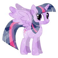 Alicorn Princess Twilight as Crystal Pony Vector by MelodyCrystel
