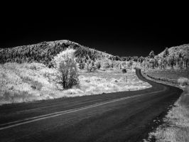 Kolob Resevoir Road in Infrared by eprowe