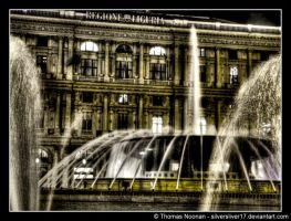 Night Fountain by SilverSliver17