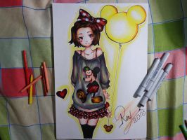 Minnie Mouse The Draw :3 by SkullBoyThe