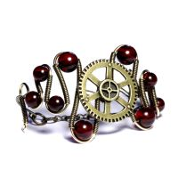 Steampunk Cherry ambr bracelet by CatherinetteRings
