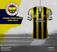 Fenerbahce 2013/14 Sezonu Nostalji Forma Tasarimim by Power-Graphic