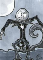 Nightmare Before Christmas Black and White sc by johnnyism