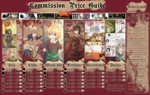Commission Guide 2012/13 CLOSED by AnglaisRose