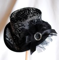 Velvet Sparkles Mini Top Hat by RagDolliesMadhouse
