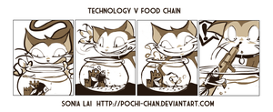 Technology v Food Chain by Pochi-mochi