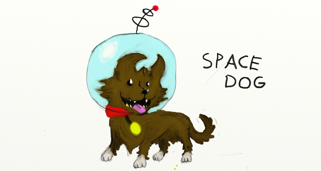 Space Dog by OztheAristocrat