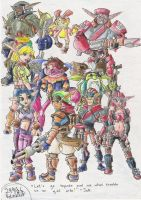 JAK Characters by GraphiteFalcon
