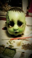 baby creature of Frankenstein, little cute face by made-me-a-monster