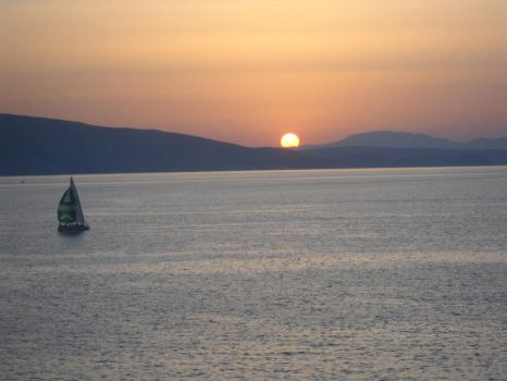 Sunset on the Adriatic by BlissfullyBonkers91