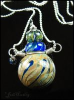 Earth Sage - Glass Lampwork Bottle Pendant by andromeda