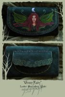 'Green Fairy' Leather hand painted wallet front by morgenland