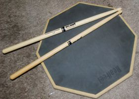 Promark 5b Sticks and Pad by soulstrifer