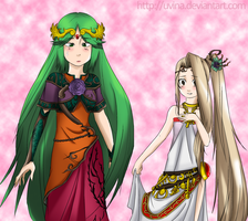 Request - Palutena Viridi (Clothes Swap) by uvina