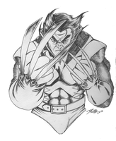 wolverinesketch new by DelHewittJr