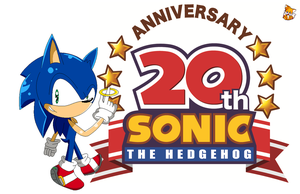 20 years Sonic the hedgehog by alinathecat12