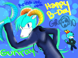 :GIFT: happy b-day gunray10! by animehamster1475