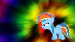 Filly Rainbow Dash Wallpaper by Pappkarton