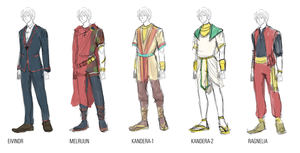 moon festival outfit refs-- by peachtail