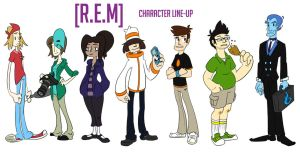 [R.E.M] Character Line-up by CodyHawley