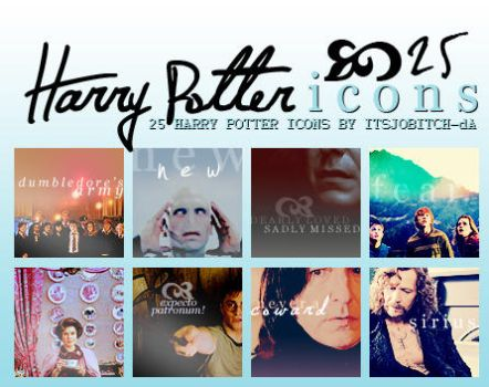 Harry Potter 25 icons pack by ItsJoBitch