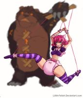 Tibbers revenge on diapered Annie (LoL Fetish) by Lilith-Fetish