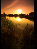 Amber Glow over Moulden Pond by GMCPhotographics