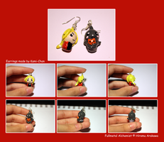Edward and Alphonse Earrings by Kamiflor