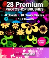 28 Shapes Premium Brushes by Packsdownload