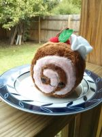 swirl cake plushie by Love-Who