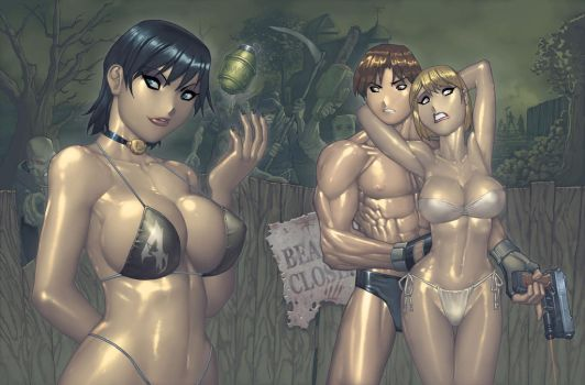 Resident Evil 4 SwimSuit PinUp by RyanKinnaird