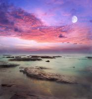 Milky Moon Premade Background by little-spacey