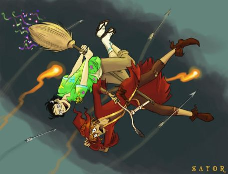 Rincewind and Twoflower by StormBay