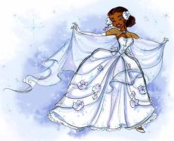 Tiana Wedding Concept Sketch by papayabanana