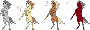 rearing stallion adoptables set one CLOSED!!! by sandym918