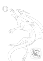 Volleyball lineart by AverrisVis