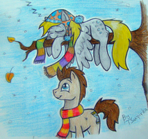 Derpy and Whooves-Winter is coming by TSupirka