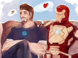 Iron men3 :Iron Man suit love is Tony by fujimot0