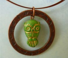 Owl Necklace by FusedElegance