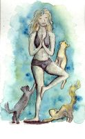 Yoga With Cats by PonderosaPower